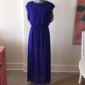 Lush Maxi Dress Royal Blue SZ Medium
